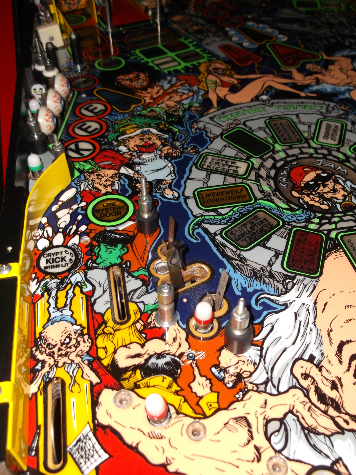 1993 Data East Tales from the Crypt pinball super kit TFTC