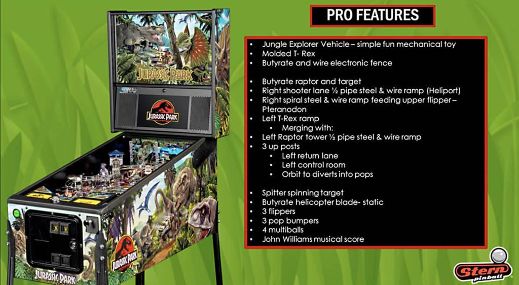 Jurassic Park Pro Stern 2019 | Shop | Absolute Pinball & AmusementsAbsolute Pinball